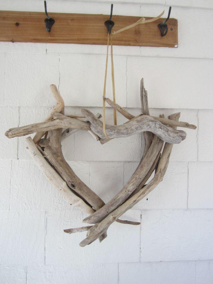 Montauk Driftwood Heart Wreath. $55.00, via Etsy.