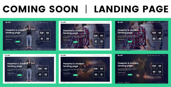 Coming Soon Coming Soon Page One page Landing Page Features