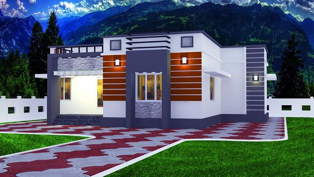 Low Cost 2 Bedroom Free House Plan In 1200 Sqft For Small Plot Free Kerala Home Plans Free House Plans Contemporary House Plans Beach House Plans
