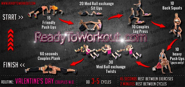 Valentine's Day Couples Workout Routine - Ready To Workout ...