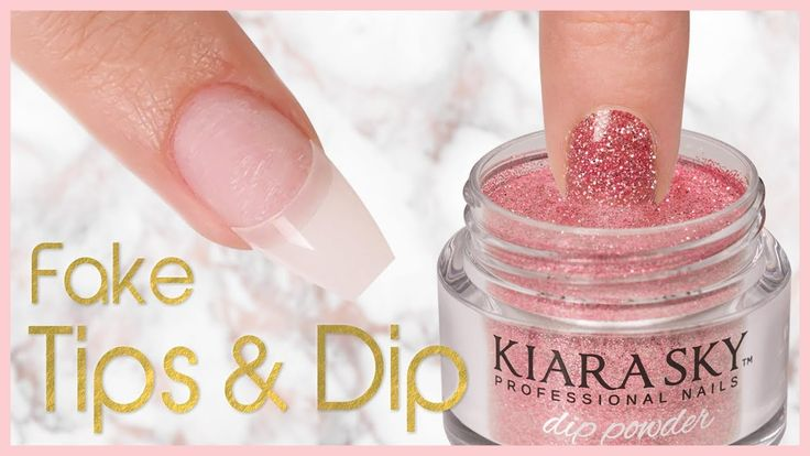 How to apply dip powder with nail tips step by step