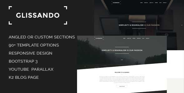 Glissando - Creative and Minimal Joomla Template . Glissando has features such as High Resolution: Yes, Compatible Browsers: IE9, IE10, IE11, Firefox, Safari, Opera, Chrome, Edge, Compatible With: Bootstrap 3.x, Software Version: Joomla 3.6.x, Joomla 3.5.x, Joomla 3.4.x, Joomla 3.3.x, Joomla 3.2.x, Joomla 3.1.x, Joomla 3.0.3, Joomla 3.0.2, Columns: 4+