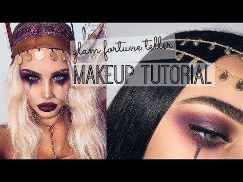 Glam Fortune Teller | Halloween Tutorial | Inspired: ByBrookelle - YouTube
