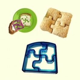 Puzzle sandwich cutter The Puzzle sandwich cutter removes the crust from bread creating fun shaped sandwiches that any child will love. They're great for school sandwiches, snacks, parties and much more www.cheekychuckles.com.au