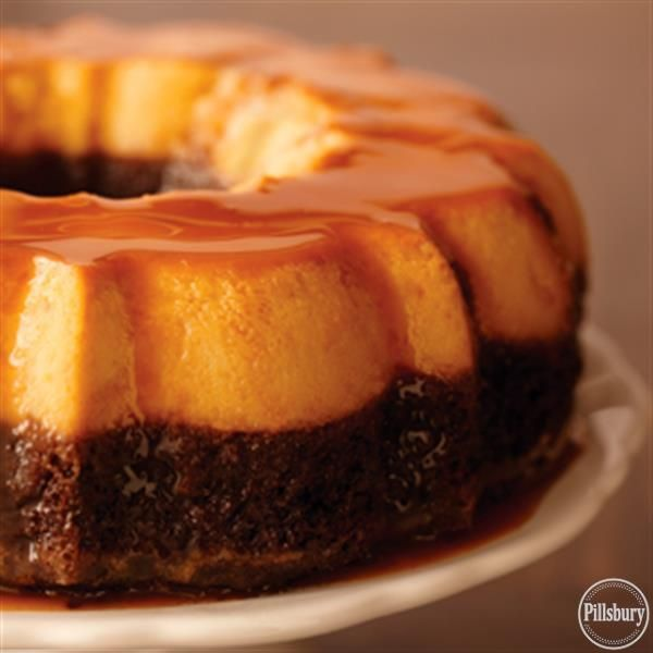Chocolate Flan Cake from Pillsbury:registered: is a fan favorite dessert recipe the whole family will enjoy!