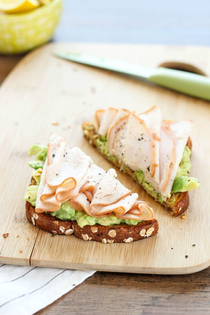 Turkey and Avocado Toast - this toast recipe is made with wholesome ingredients like whole grain bread, creamy avocado, and delicious slow roasted turkey breast. Ready in just minutes, this toast is a smart option that fits into a healthy lifestyle. It's the perfect savory breakfast for busy mornings.