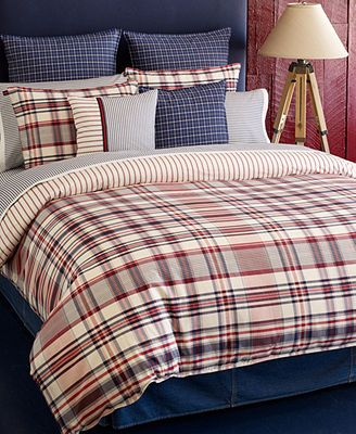 To Americana Male Looking Tommy Hilfiger Bedding Vintage Plaid Comforter And Duvet Cover