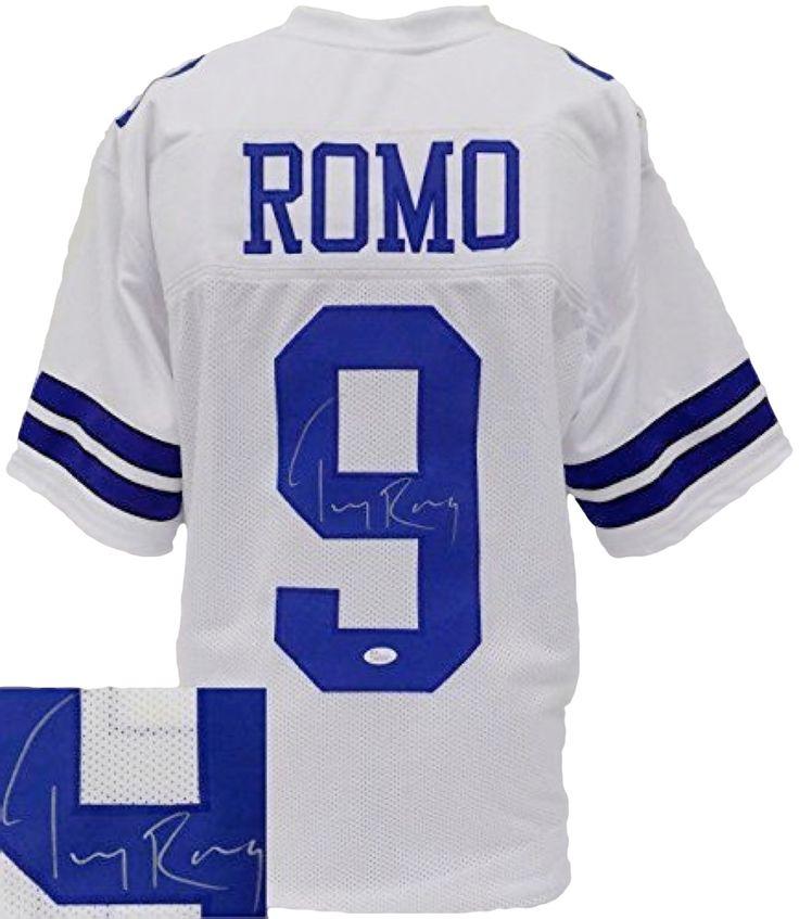 Tony Romo Signed Custom White Football Jersey JSA - Sports Integrity