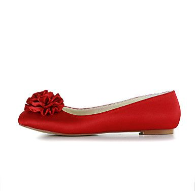 Women's Shoes Comfort Flat Heel Satin Flats Wedding Shoes More Colors available – GBP £ 35.03