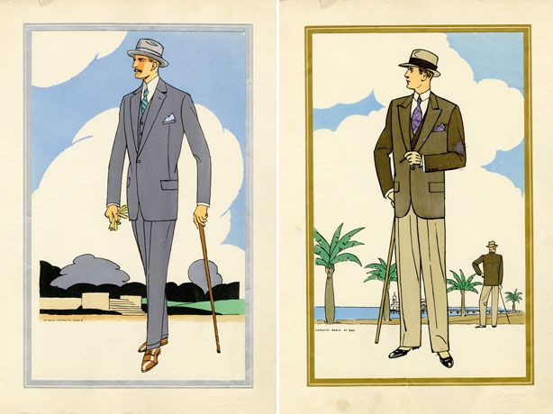 Very Stylish Fashion Illustrations from the 1920s. Evidently you couldn't look good back then unless you had a cigarette. :-/