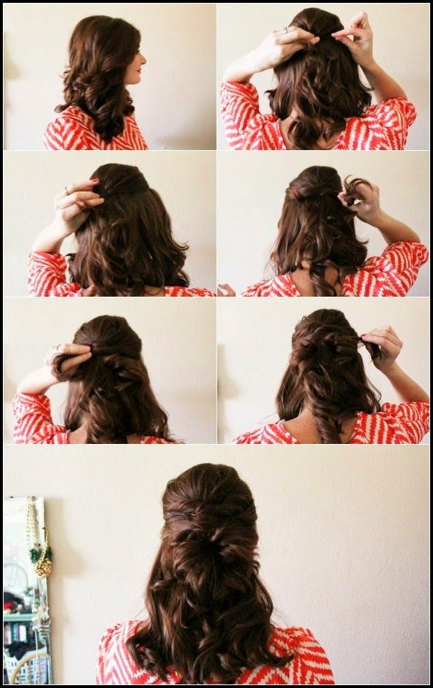 Haft up Haft down Hair Style http://womenstyles.net/haft-up-haft-down-hair-style/