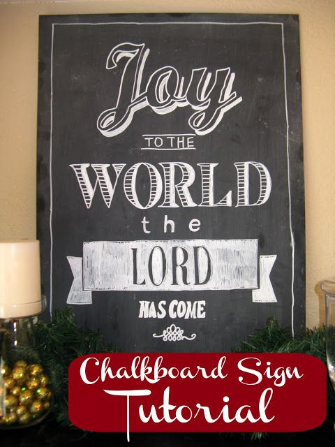 Teaches you how to make your own hand written chalkboard sign. Any size!