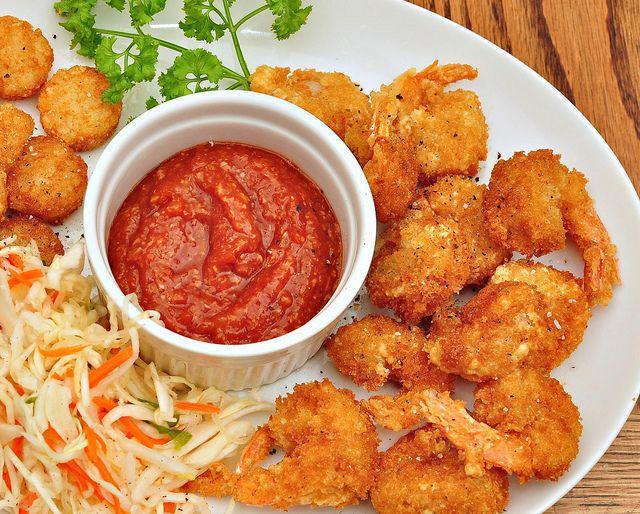 Goddelijke snack: krokant gebakken garnalen -