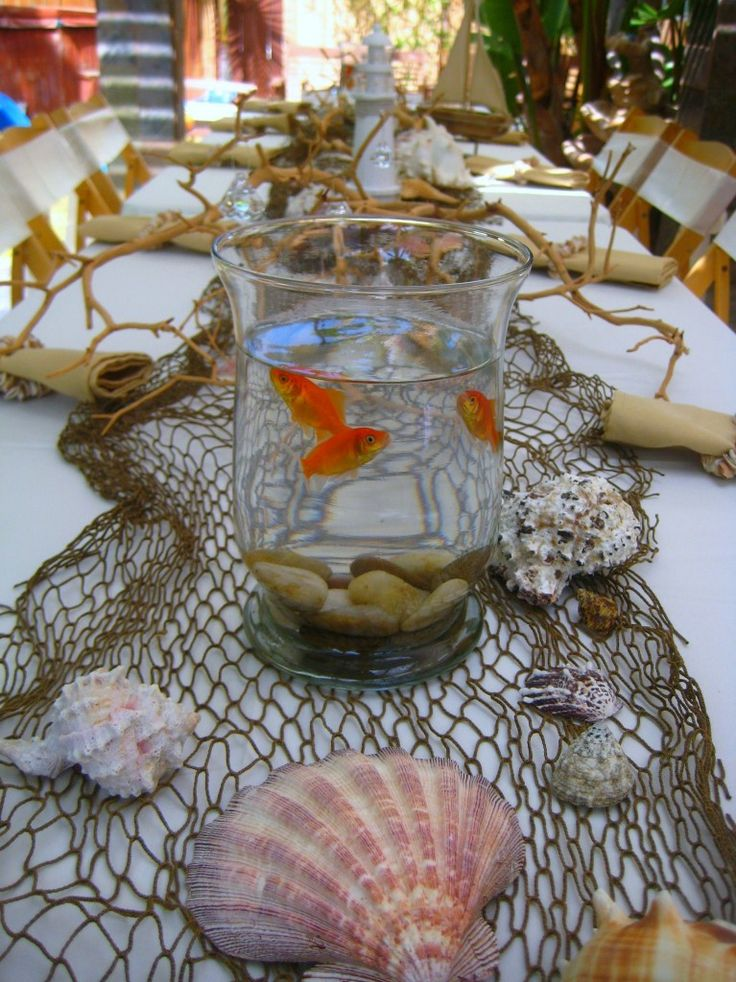 goldfish centerpiece - Google Search                                                                                                                                                                                 More