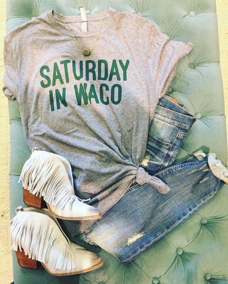 """Saturday in Waco"" tee by Ricochet in Waco, TX"