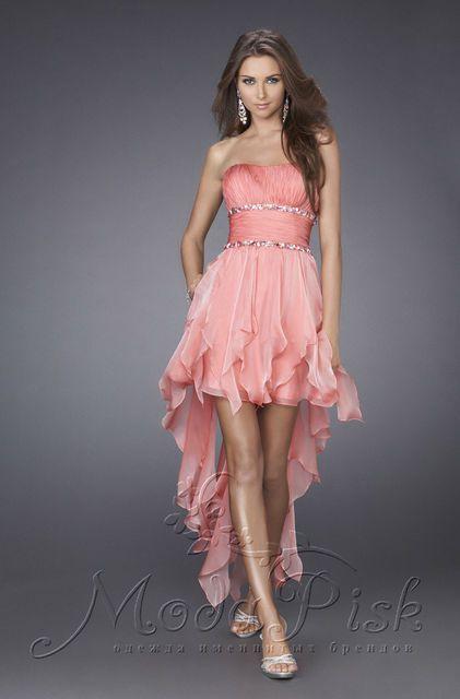 Коктейльное короткое платье для выпускного бала, фото 2