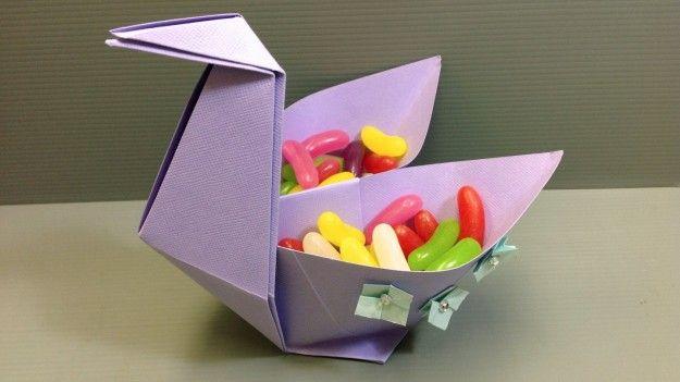 Cigno con origami fai da te per Pasqua