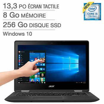 Acer – Ordinateur portable Spin SP513-51- 54K0 bilingue, i5-7200U