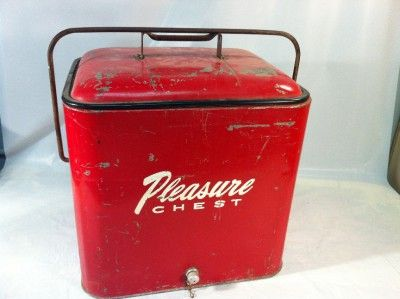 RARE Vintage 1950's Pleasure Chest Soda Beer Insulated Ice Chest ...