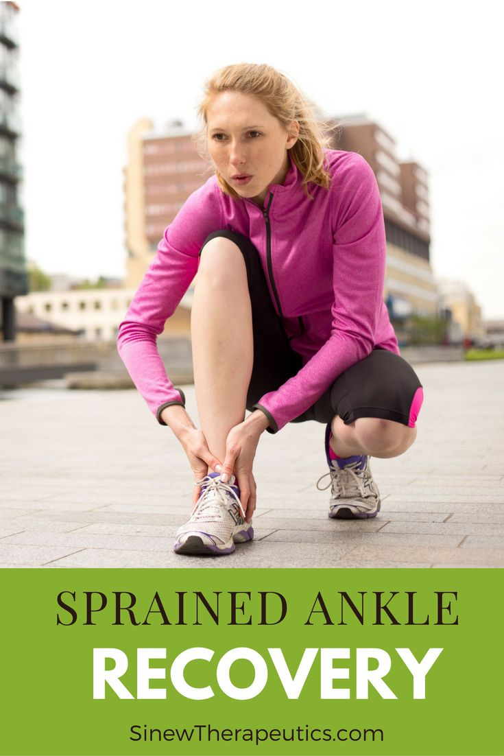 Sprained Ankle Recovery - During the acute stage it is very important to restore normal circulation to the ankle, break up clotted blood and stagnant fluids, reduce swelling, and reduce the redness and heat associated with inflammation. Learn more at SinewTherapeutics.com