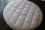 Round Bassinet Protector--NEW--COTTON QUILTED TOP  - suit Kaylula  Bassinet