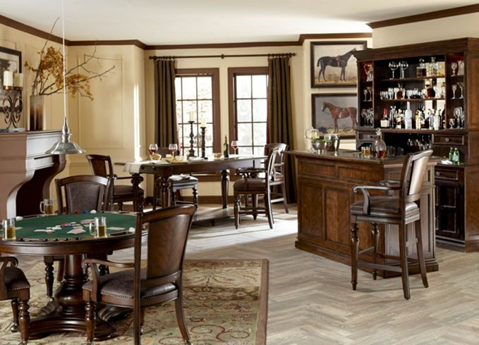 Counter Height Poker Table : excellence bar niches dining rooms sheffield s tavern back bar ...