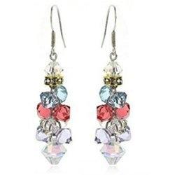Fine Dangling Multicolor Crystal Earrings Contempo Culture