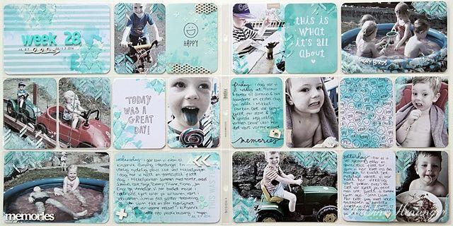 Kristine's lille papirverden: PROJECT LIFE - UKE 28