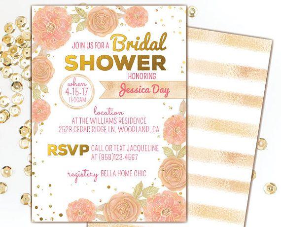 22a5e896838ba7b11fa5458ec356631d peach bridal showers blush and gold best 20 peach bridal showers ideas on pinterest peach weddings,Peach Bridal Shower Invitations