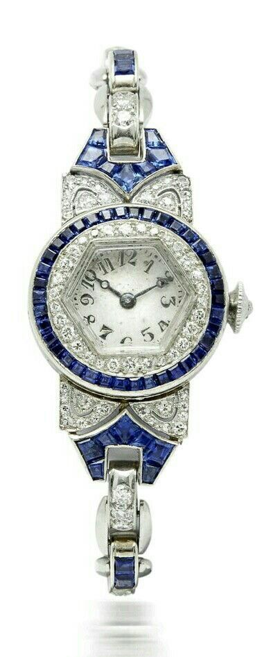 An Art Deco Sapphire and Diamond Ladies Watch, by Oscar Heyman
