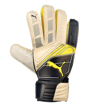 Take a look at this White & Black Momentta Soccer Goalie Gloves - Kids by PUMA on #zulily today!
