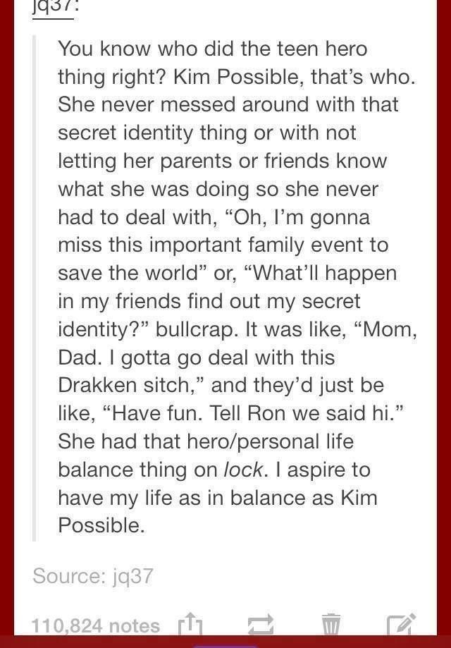 No seriously, I think we underestimated how well balanced Kim life was. She did EVERYTHING and did it all well!