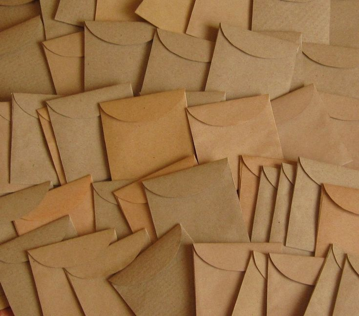 """100 Mini Brown Envelopes - Seed Packets - Confetti Packets - Mini Envelope Favors - Kraft Envelope Favors - Wedding Envelopes 1 7/8"""" x 2"""" by UniqueEnvelopesShop on Etsy https://www.etsy.com/listing/238914756/100-mini-brown-envelopes-seed-packets"""