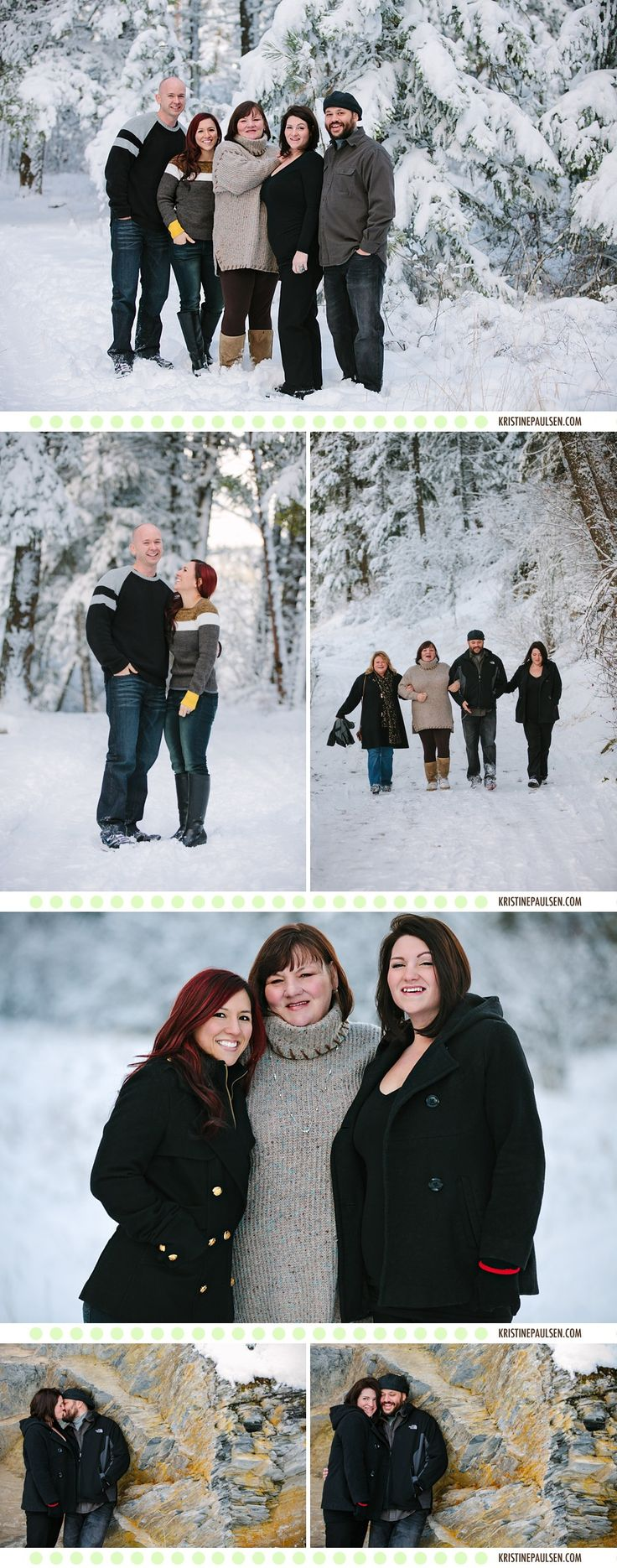 A Wintry Missoula Montana Family Photo Session