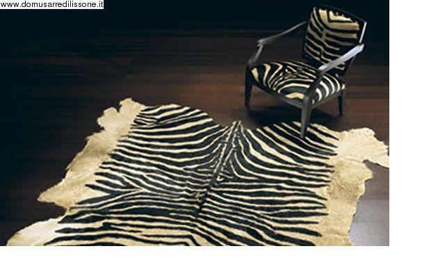 Tappeto cavallino zebrato