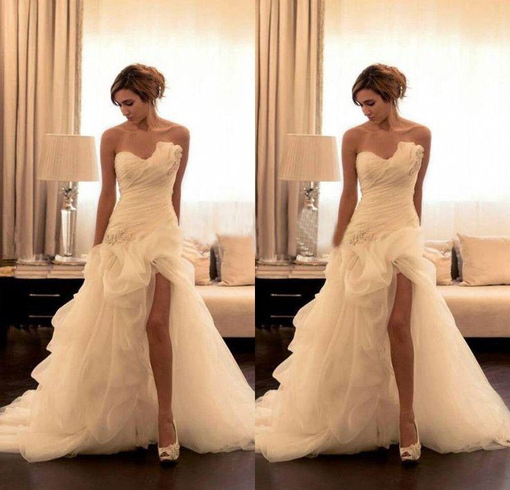 Weiß Meerjungfrau Organza Herzenform Brautkleider Brautjungfer Hochzeitskleid in Kleidung & Accessoires, Hochzeit & Besondere Anlässe, Brautkleider | eBay