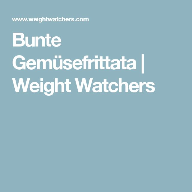 Bunte Gemüsefrittata | Weight Watchers