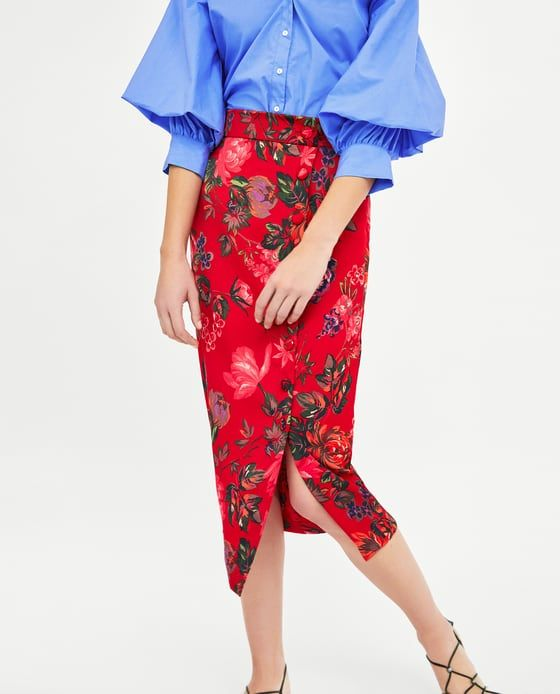 2b002ec0c8 Image 2 of FLORAL PRINT PENCIL SKIRT from Zara | High Street ...