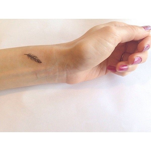 Little Feather Tattoo For Women