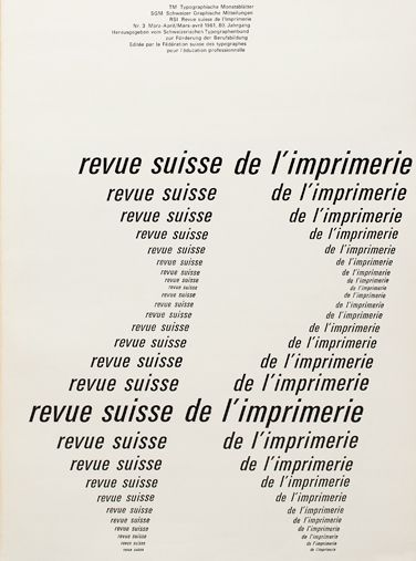 Cover from 1961 issue 3/ Cover Design  Emil Ruder/Typeface  Univers