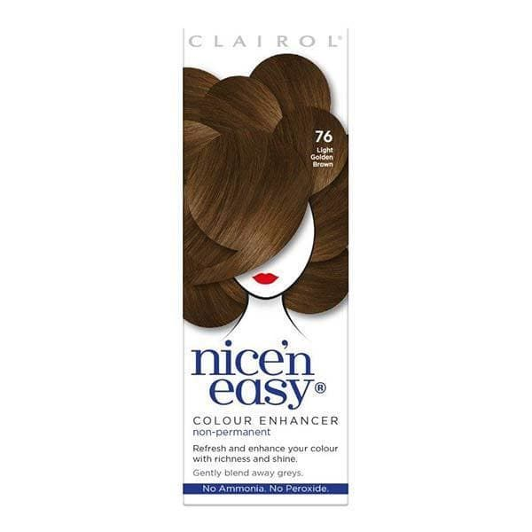 Nice N Easy Colour Enhancer Hair Dye Light Golden Brown 76