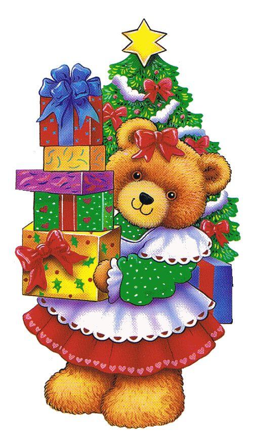 foto de CHRISTMAS TEDDY BEAR CLIP ART Dibujos de navidad