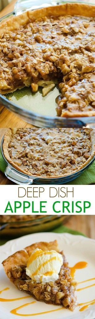 Absolutely THE BEST apple crisp recipe we've ever had. It barely lasted 3 days.