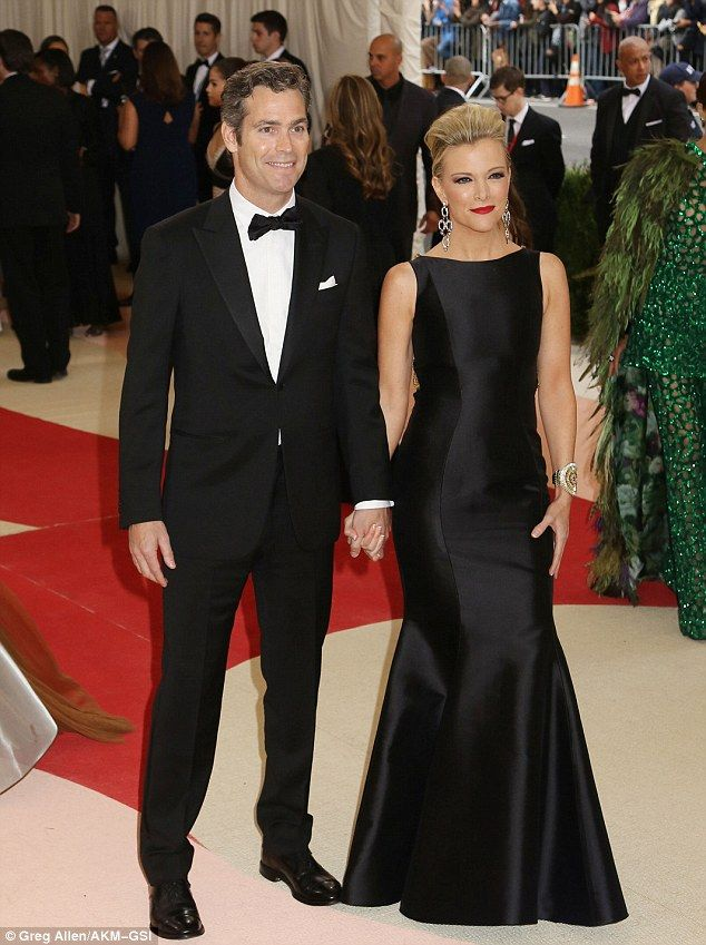 Megyn Kelly arrived hand in hand with her husband of eight years, novelist Douglas Brunt. #MetGala 2016