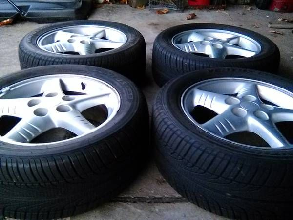 16 Inch Rims And Tires (Battle Creek) $150: I have a set of four 16inch Pontiac rims with tires. They are in great condition. The tire size…