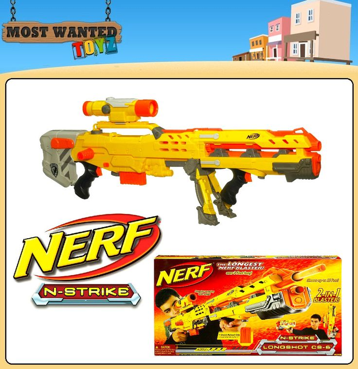 nerf guns | Brand New Nerf Hasbro N Strike Longshot CS 6 2 in 1 Long Shot Blaster ...