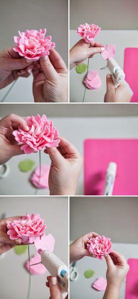 Cómo hacer rosas de fieltro