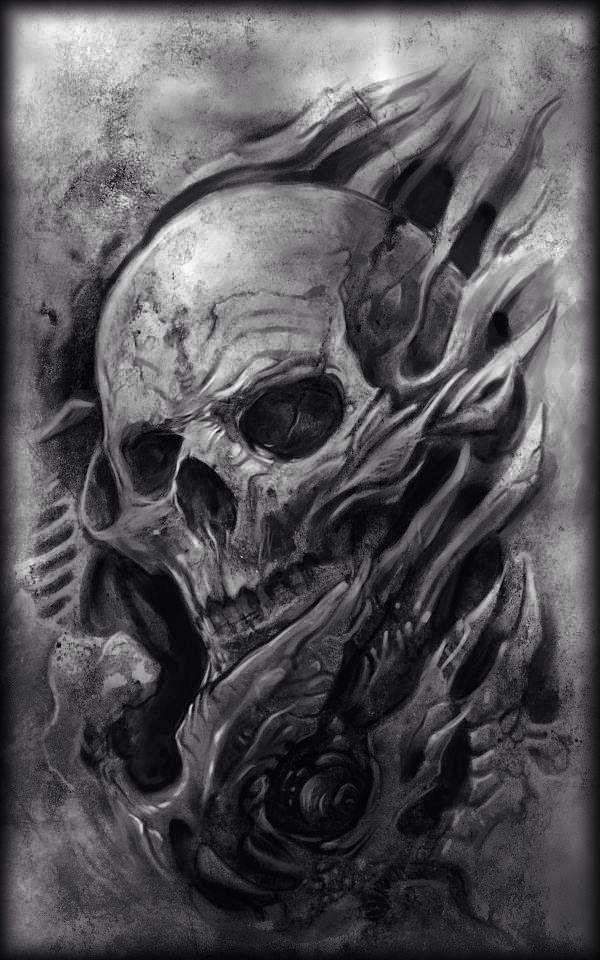 Creepy Skull Tattoo Design Tattoo Pinterest Skull Tattoo