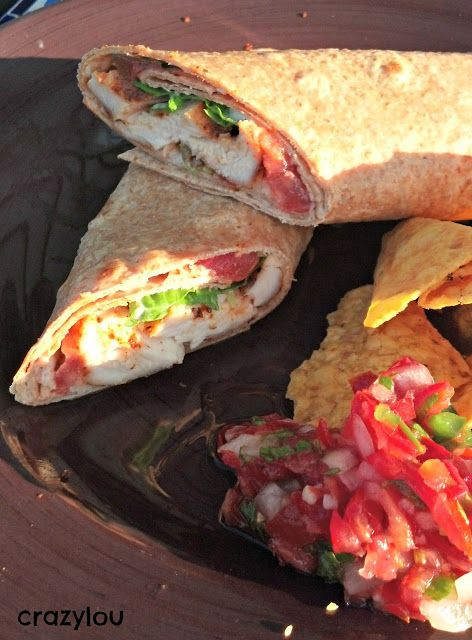 Smokey Chicken wrap--perfect quick dinner for busy school nights