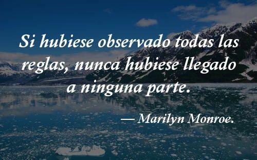 Estos pensamientos cortos te harán reflexionar sobre la vida. Descúbrelos. -  #frases de Marilyn Monroe